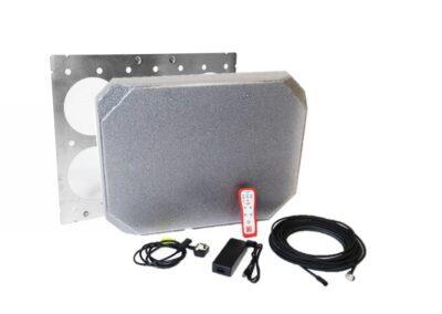 Produktbild: LION ATTACK™-Brandpanel mit Wandhalterung und Zubehör